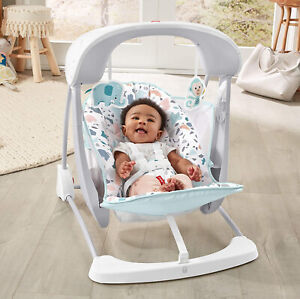 Fisher-Price Take-Along Swing & Seat Soothing Baby Infant Songs Sounds Folding