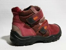Ecco Girls Toddler Winter Boots Pink Suede Leather EUR 26 US 9.5 Snow Shoes Red