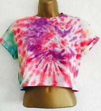 New Tie Dye Crop Top T-Shirt Size S Festival Ibiza Grunge