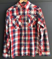 G-Star Raw Originals Men's Checkered Zipper Shirt, Size L, Good condition