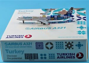 JC Wings 1:400 Turkish Airlines Airbus A321 Discover the potential TC-JRG model