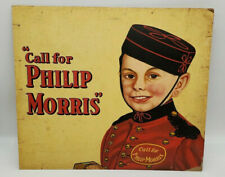 PHILLIP MORRIS Vintage Cardboard Advertisement Sign Bell Hop Sign