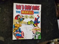 How to Draw Comics the Marvel Way by John Buscema and Stan Lee 1978 Softcover