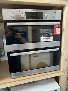 AEG DUB331110M Built Under Electric Double Oven - Stainless Steel - A/A Rated