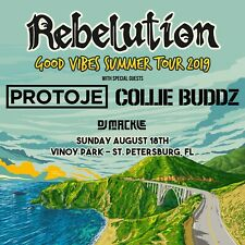 "REBELUTION ""GOOD VIBES SUMMER TOUR 2019"" TAMPA CONCERT POSTER- Reggae Rock Music"