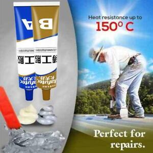 Industrial Heat Resistance Cold Weld Metal Repair Paste A&B Adhesive Gel 65 CL