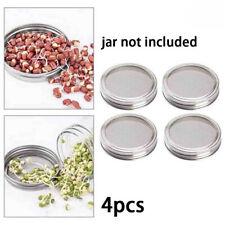 4Pcs Stainless Steel Sprouting Lids Screen Strainer Filter for Mason Canning Jar