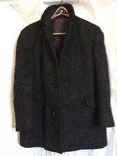 Vtg European Kreymborg Mohair Loden Wool Quilted Insulated Coat M/L