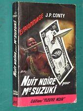 """Nuit noire pour Mr Suzuki J. P. CONTY """"Fleuve Noir"""" n° 497"""
