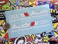 VINILO ADHESIVO PEGATINA AUDI SPORT X2 CAR STICKER DECAL TUNNIG GERMÁN INVERSO