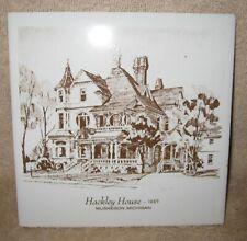 "Hackley House ~ 6"" Ceramic Tile Trivet ~ Muskegon Michigan"