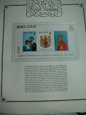aus Abo UK The Royal Wedding Charles+Diana Hochzeit BLOCK BELIZE 3 W. nummer!