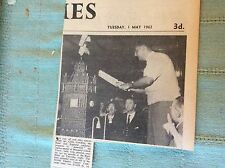 c1-1 ephemera 1962 picture cricketer colin cowdrey margate clock tower charity