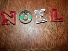 NOEL Cookie Cutter Letters, 1 3/4 in. x 1.5 in. Christmas Cookie Cutters