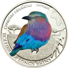Lilac-breasted Roller Silver Proof coin 500 Francs Burkina Faso 2013