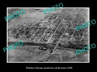 OLD POSTCARD SIZE PHOTO WINSLOW ARIZONA AERIAL VIEW OF THE TOWN c1940