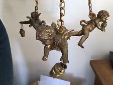 More details for bronze spelter cherub light