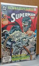** Superman #78 '93 DC Comics Superman in Reign of the Supermen & Doomsday C **