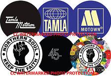 """Northern Soul Tamla Motown Stax 12"""" or 7"""" DJ SLIPMAT turntable platter mat"""