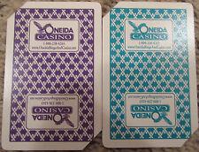 Oneida Casino Diamond Plastic Playing Cards Fournier Set of 2 Decks in Case Cut