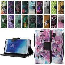 "For Samsung Galaxy J7 J737 2018 5.5"" Wallet Case Fold Stand Pouch Purse Cover"