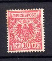 German Empire 1891 10pf rose carmine SG48 mint MH Cat Val £350 WS19678