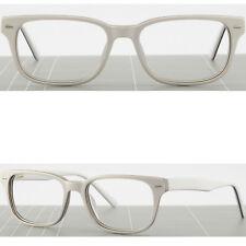 5771f8eed226 White Mens Womens Frames Rectangular Plastic Prescription Glasses Spring  Hinges