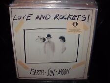 LOVE AND ROCKETS earth sun moon ( rock ) sticker