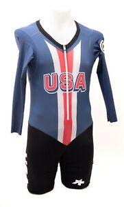 Assos Team USA Long Sleeve Speedfire Skinsuit Men MEDIUM NoPinz Road Bike Race