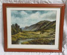 Original Oil on Board - Signed and Framed Landscape - E Harmer 1988