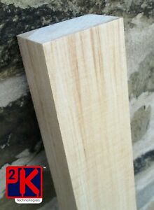 Basswood Hardwood Block E - 1pc x 48mm Thick x 76mm Wide x 400mm Long - T48POST