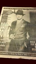David Bowie - Si supplement Clarin newspaper Argentina