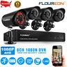 8CH/4CH HD 1080N DVR 1500TVL Outdoor Security Camera System Kit IR Night Vision