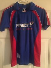 France #10 Soccer Football Jersey Produit Original Rooster Adult Size Small