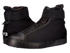 adidas Y-3 by Yohji Yamamoto Women's Loop Court Hi-Top Black Sneakers US Size 10