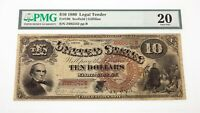 1880 $10 United States Note Fr #100 Graded by PMG as Very Fine 20 Pinholes