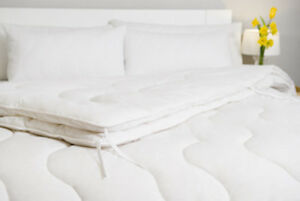 Merino Wool Pure Duvet Quilt Cotton Natural single double king Next Day Delivery