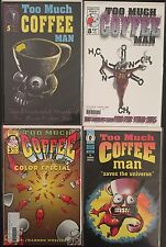 Too Much Coffee Man? Lot Of 4 Comics, #5,8 Color Special #3, Saves The Universe