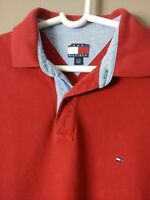 Tommy Hilfiger Red Polo Shirt Men's Cotton Solid Size XL Extra Large (Free S&H)