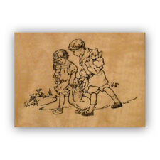 Friends & Goose mounted rubber stamp, barnyard, farm, duck, children CMS #8