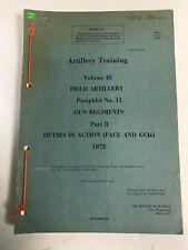 Artillery Training Volume III, Field Artillery Pamphlet No 11, Part II