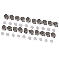 US Stock 50pcs 5mm Chrome Metal LED Bezel Holder Panel Display
