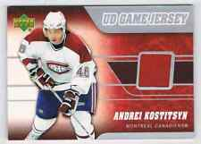 2006-07 UD GAME JERSEY ANDREI KOSTITSYN JERSEY 1 COLOR MONTREAL CANADIENS #J-KS