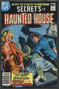 1980 DC Comics Secrets of Haunted House #23 Return of the Killer's Ghost