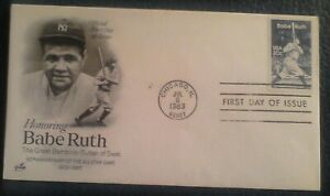 First day of issue, 1983 Honoring Babe Ruth, Scott # 2046