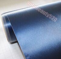 Whole Car Wrap Hot Metallic Matte Brushed D Blue Vinyl Steel Sticker 50FT x 5FT
