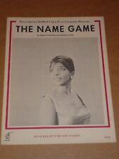 """Shirley Ellis """"il nome del gioco"""" US SPARTITI MUSICALI"""