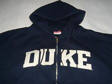 Duke University Blue Devils Zip up Hoodie Sweatshirt XL pre-owned