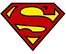 "Iron On Transfer- Superman ""S"""
