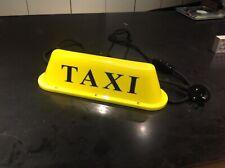 New York taxi light turned into 220v LED cool table lamp. British plug.